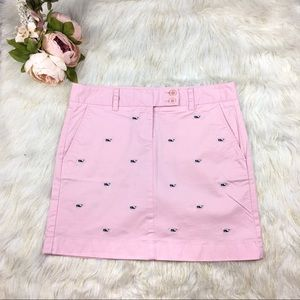 Whale Embroidered Cord Skirt